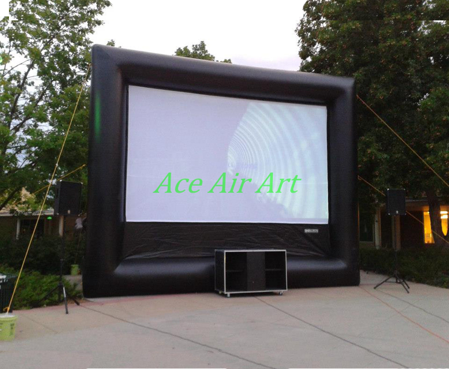big fast set up inflatable cinema screen, easy set up inflatable mobile screen for outdoor party event