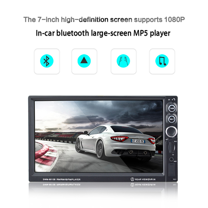 2018 7 Inch Auto High Definition Vehicle MP5 Player Double Ingot Car Audio and Video MP4 Card Radio Reversing Priority Display