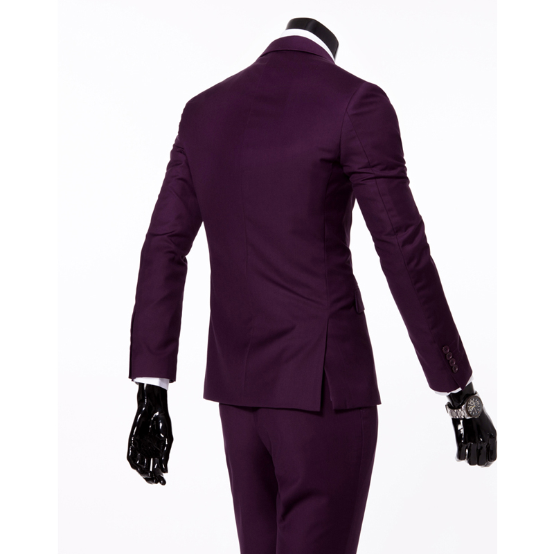 Stylish Mens Suit Set Wedding Blazers Dress Tuxedo Gentleman ...