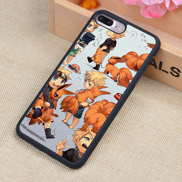 Naruto Kurama Soft Rubber Mobile Phone Cases For iPhone