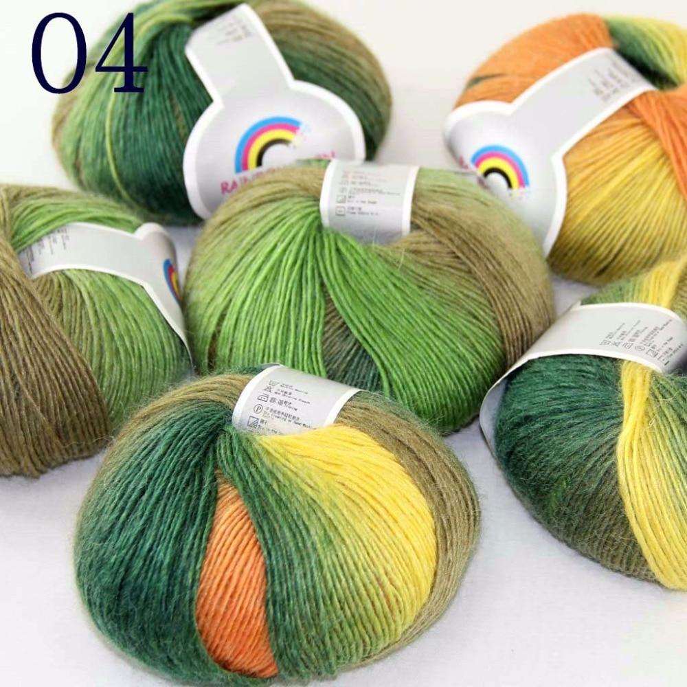 Sale New 8 Balls x 50gr Cashmere Silk Wool Hand Knit Wrap Shawls Crochet Yarn 35