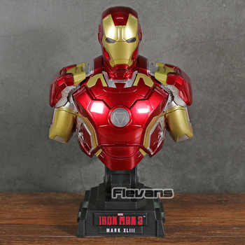 Iron Man 3 MARK XLIII MK 43 1/4 Scale Bust with LED Light PVC Figure Collectible Model Toy - DISCOUNT ITEM  16% OFF All Category