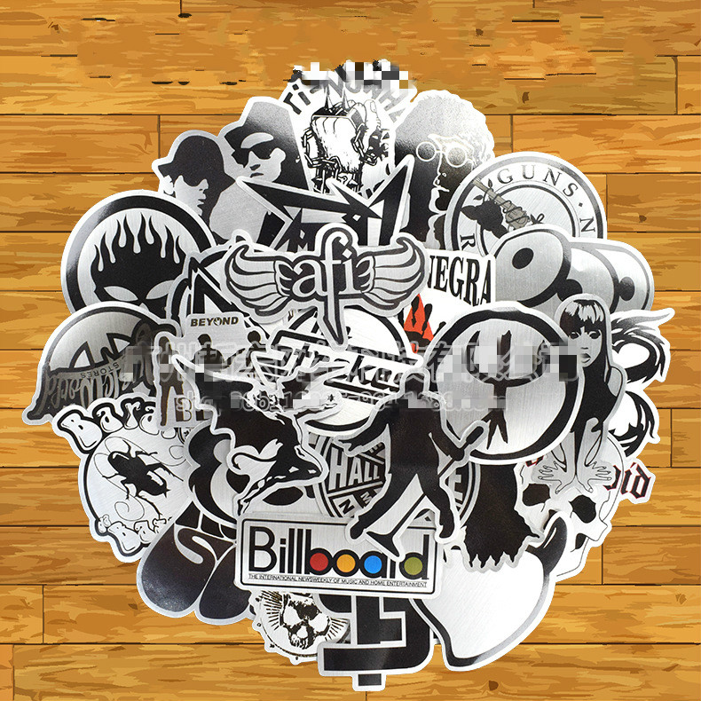 Exterior Accessories Beautiful 60 Pcs Mixed Car Stickers Toy Funny Hit Black White Not Repeat Waterproof Removable Graffiti Car Sticker
