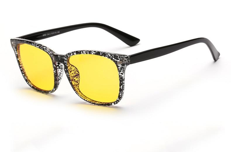 cdce661107033 Agstum Óculos de Computador Óculos de Proteção UV 400 Lentes Amarelas Visão  Noturna Anti-Reflexo Preto Leopard Multi Quadro Sol Vidro