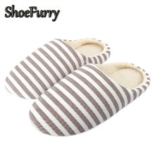 ShoeFurry Winter Home Slippers Women Casual Cotton Shoes Soft Plush Girls Ladies Indoor Slippers Flats Shoes Warm Furry Slippers(China)