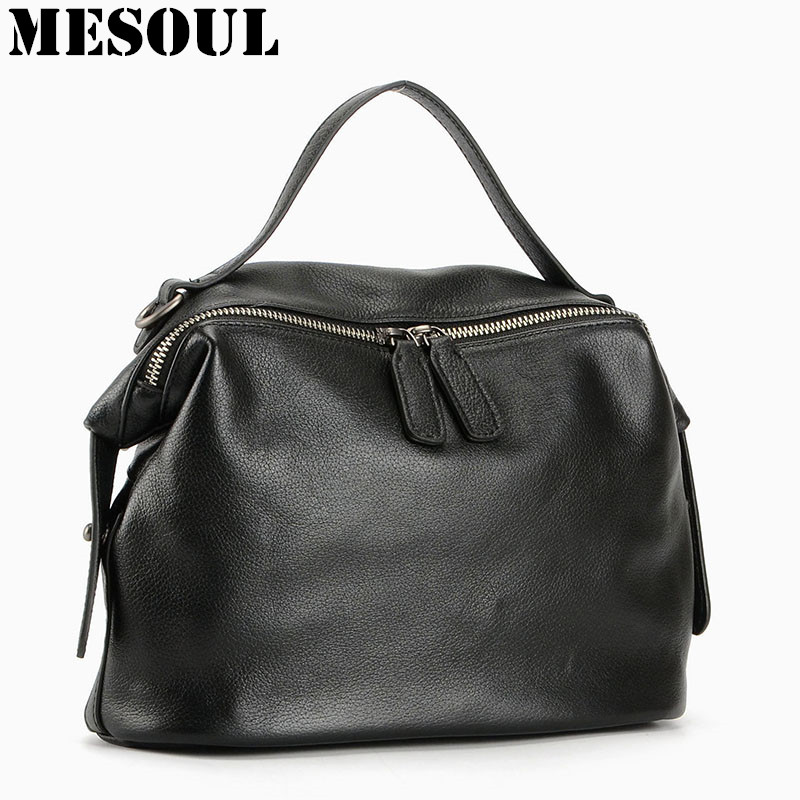 New Arrival 100% Real Soft Genuine Leather Women Handbag Ladies Shoulder Bags Fashion Designer Messenger Bag Satchel Tote Purse new arrival lace bucket handbag ladies solid shoulder bags tote purse satchel bag cross body women messenger bags vintage 2016