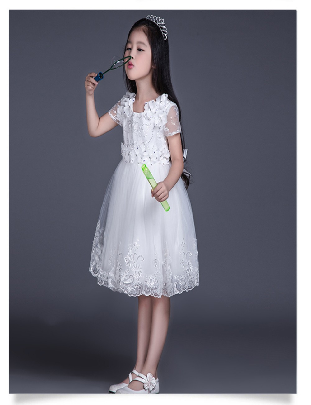 Cute Girls First Holy Communion White Dresses 2015 Little Girl Party ...