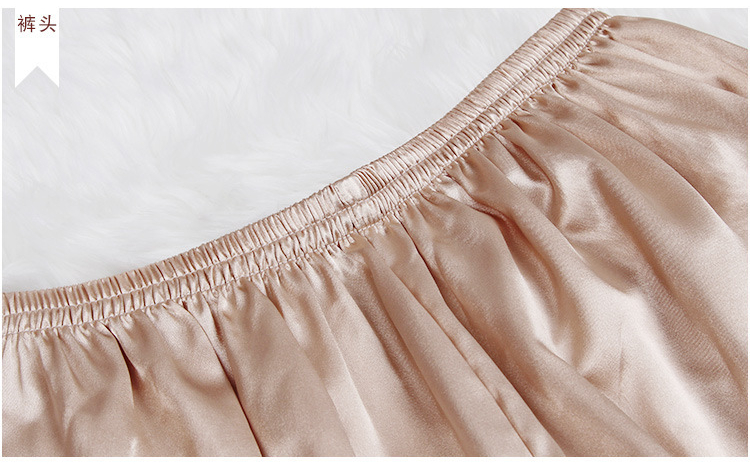 pijamas sensuais de seda cetim, conjuntos de
