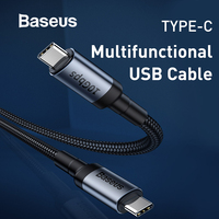 Baseus USB Type C to Type C Cable 5Gbps Data Transmission Speed QC3.0 Fast Charging Cable Gen2 Support Projection Screen
