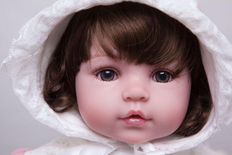 55cm silikonske preporođene dijete lutka igračke Lifelike vinil - Lutke i pribor - Foto 2