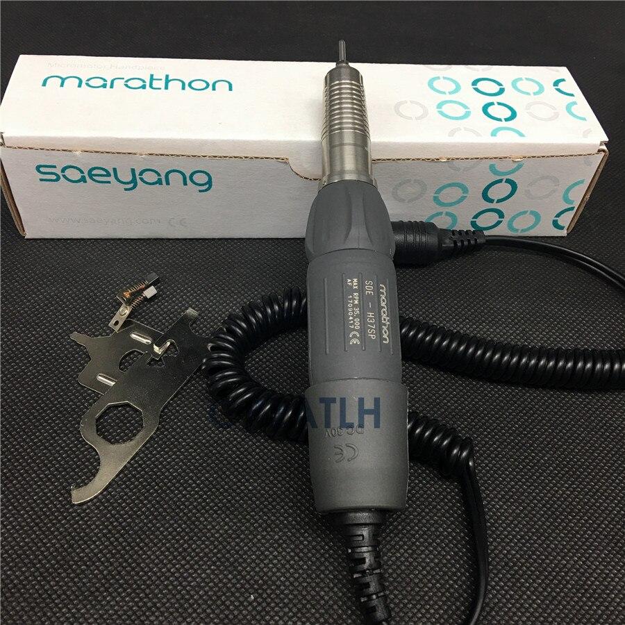 Dental Lab 2.35MM 35K RPM H37SP Electric Micromotor Motor Handpiece for Polishing Marathon Seayang dental lab marathon handpiece 35k rpm electric micromotor polishing drill burs