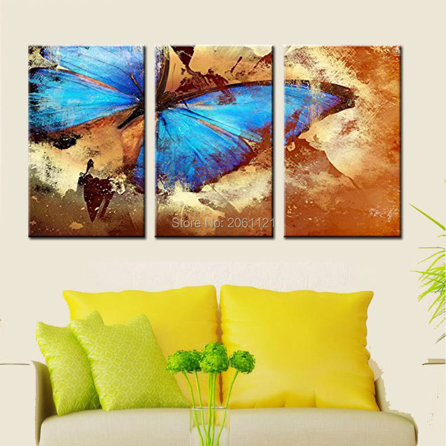 Old Fashioned Blue Butterfly Wall Art Gallery - The Wall Art ...