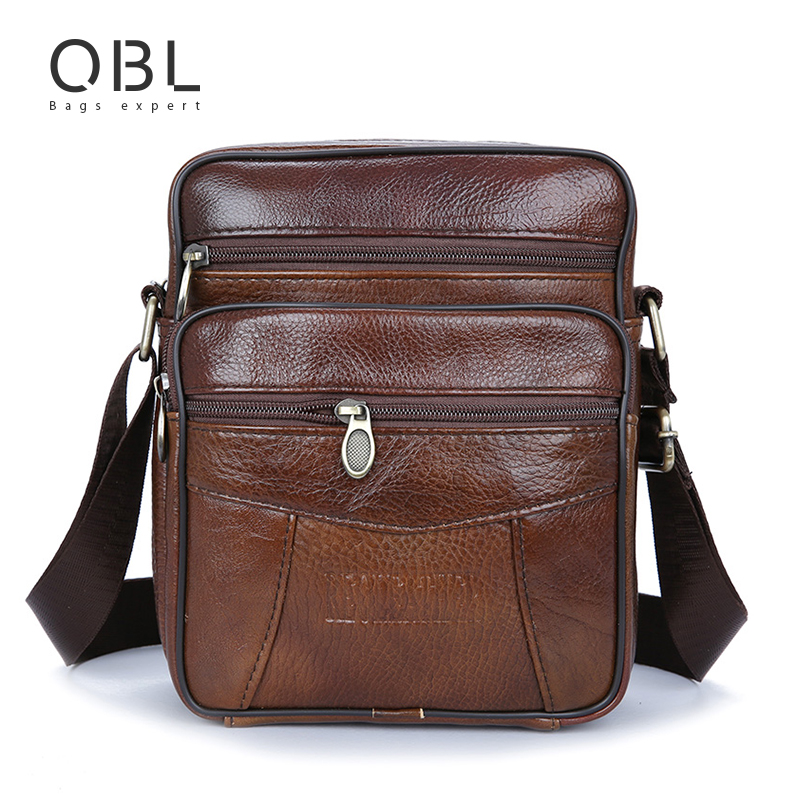Cow Genuine Leather Messenger Bags s