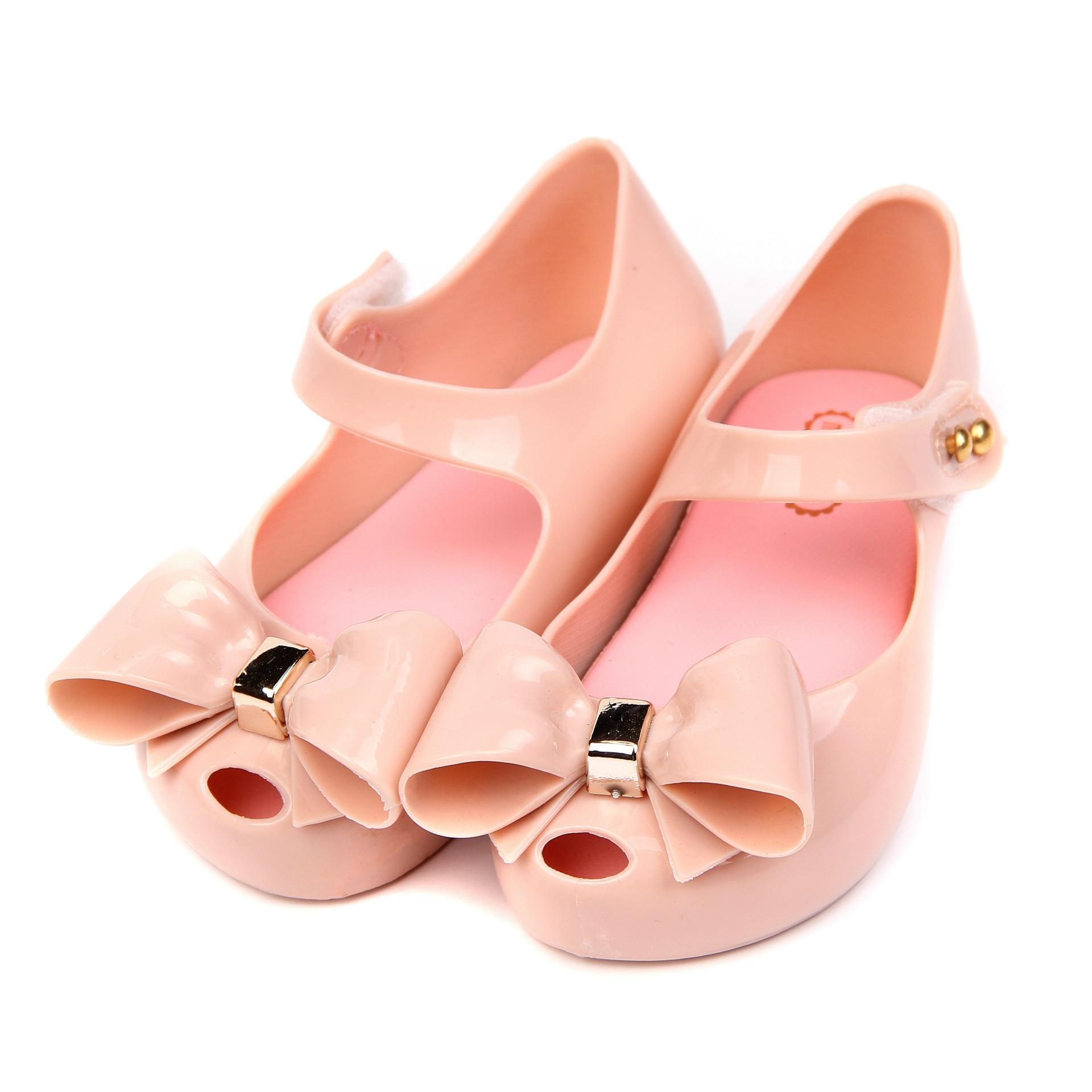 44fcca2e435b3 Mini Melissa 2017 Winter New PVC Bow Soft Comfort Kids Sandal Winter Shoe  Toddler Girl Sandals Jelly Shoes
