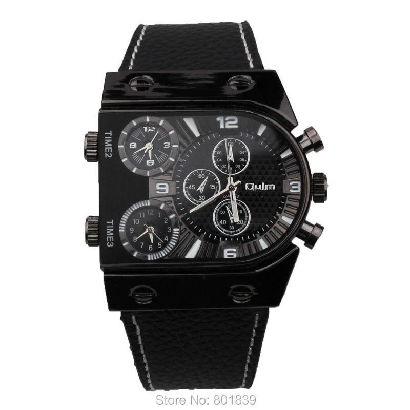 Известные бренды наручные часы моды кожаный ремешок часы OULM Приключения Для мужчин кварцевые Военная Униформа часы украшения Компасы терм...