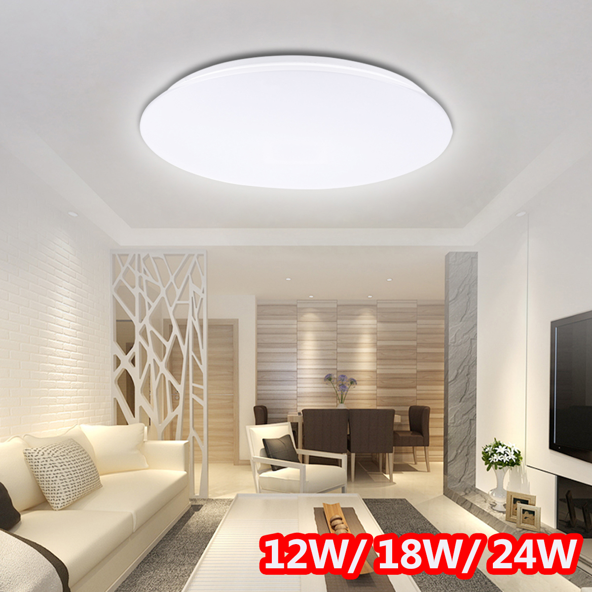 12/18/24W Modern Round Led Ceiling lights for Living Room Bedroom Decor 5cm Thin Ceiling lamp Surface Mounted Lighting