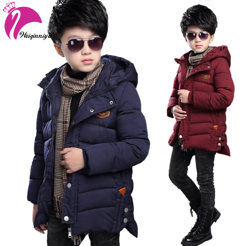 New Korean Winter Children's Winter Jackets For Boys Down Jacket Coat Warm Cotton Boys Parka Snowsuit Thick Kids Outwear Clothes 2016 winter boys parka snowsuit kids warm jacket clothes girls children cartoon padded jackets hoodies outwear down coat child