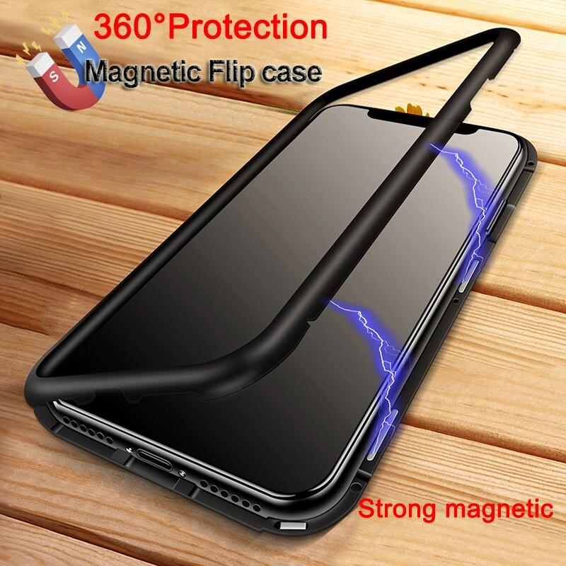 360 magnetische Adsorption telefon fall für iphone X 7 8 plus fall ...