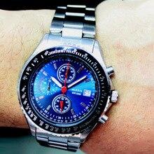 Фотография Matt Silver Band Round Men ALEXIS Chronograph 0S10 Stainless Steel Watch