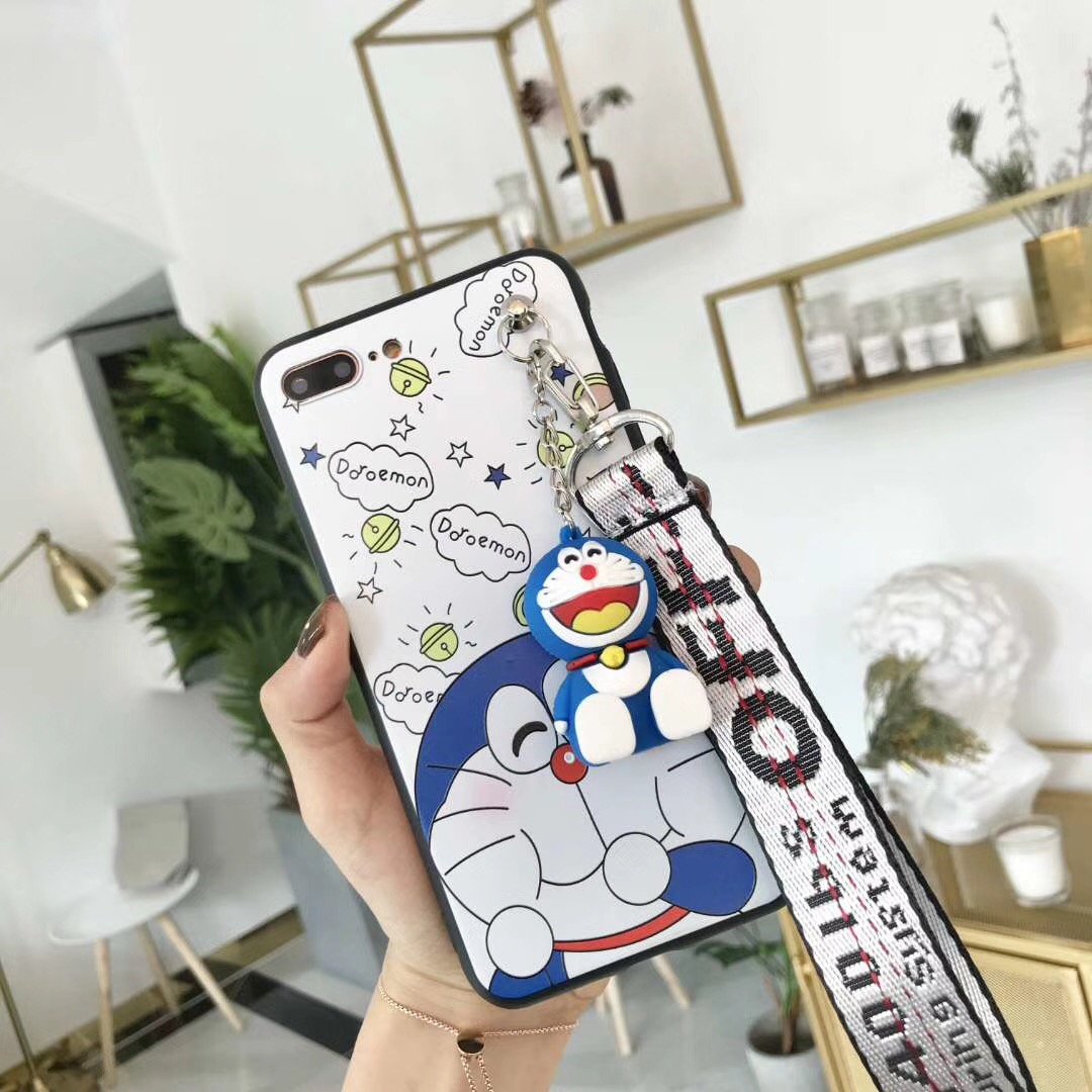 For OPPO A73 Cute Cartoon Doraemon Painted Case 3D Silicon Cat Kickstand TPU Soft Case Cover for OPPO F5