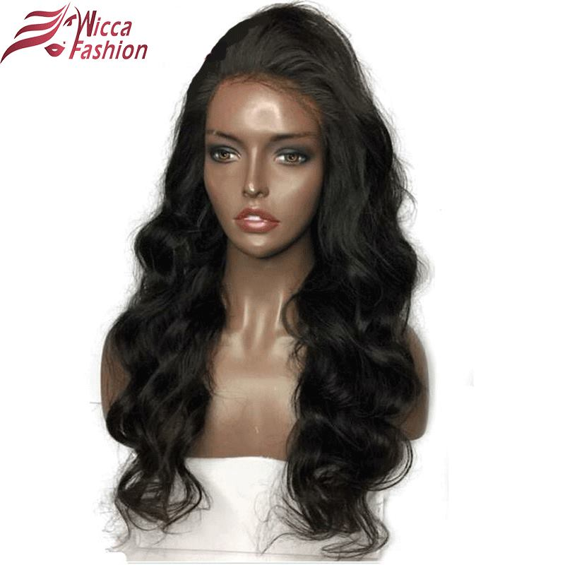 Wicca Fashion Glueless Lace Front Wigs For Black Women Body Wave Brazilian Remy 100% Human Hair Pre Plucked Hairline