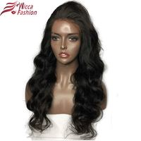 Wicca Fashion Glueless Lace Front Wigs For Black Women Body Wave Brazilian Remy 100 Human Hair