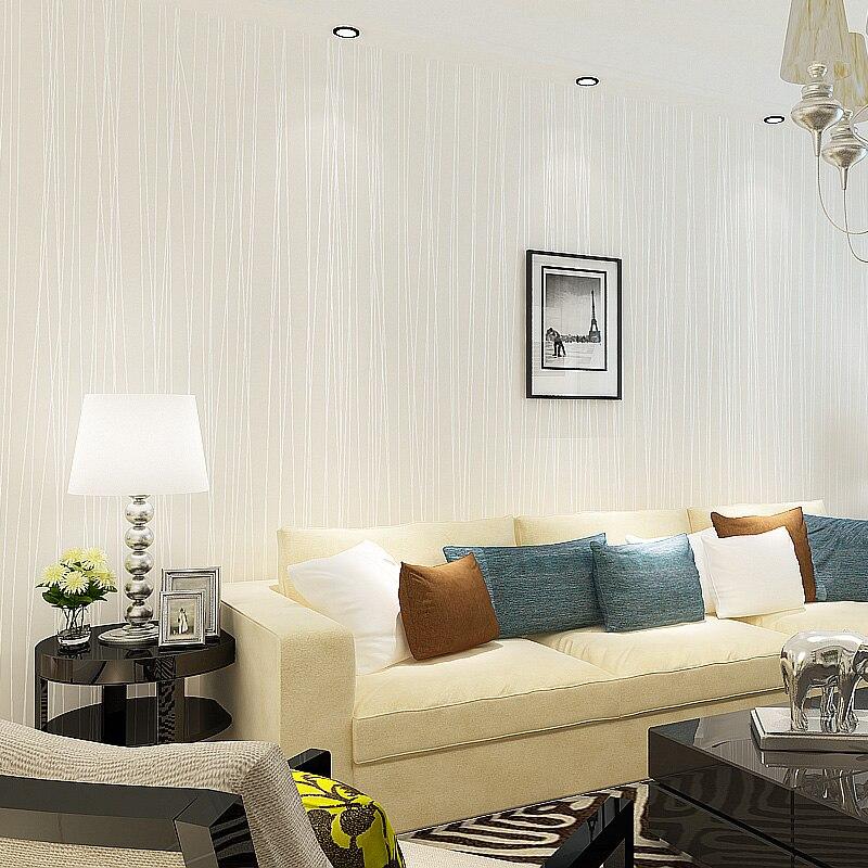 Eenvoudige Geweven moderne gestreepte behang roll woonkamer behang ...