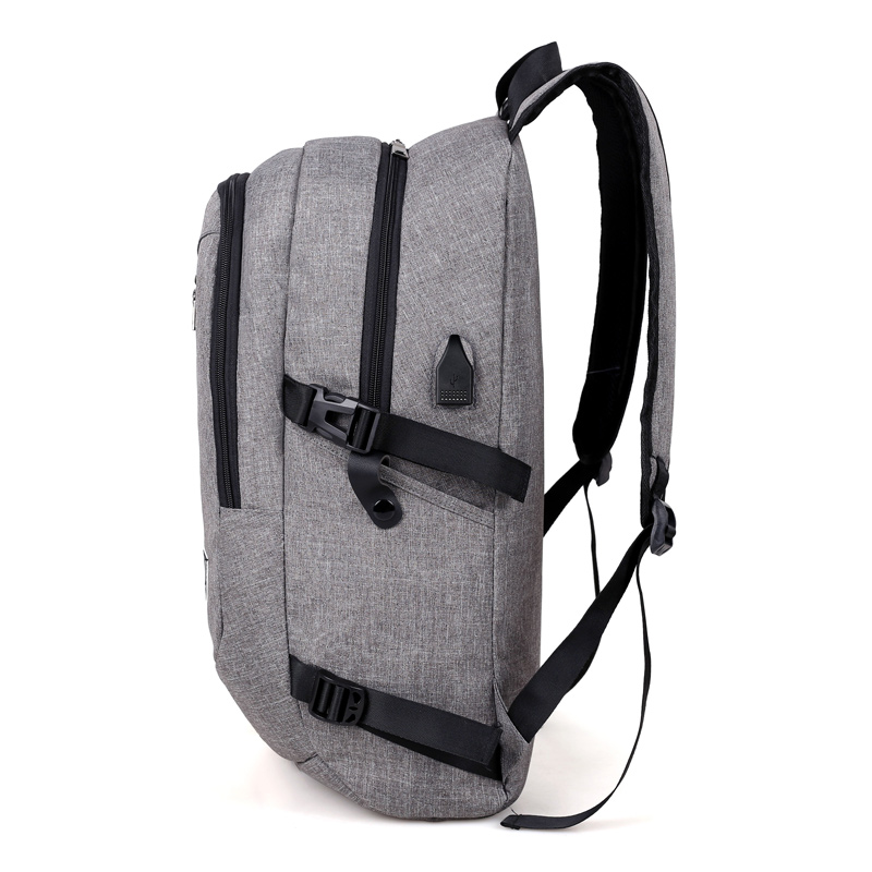 Image 3 - Fashion man laptop backpack usb charging computer backpacks casual style bags large male business travel bag backpack-in Backpacks from Luggage & Bags