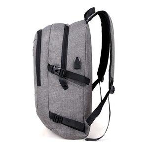 Image 3 - Mode mann laptop rucksack usb lade computer rucksäcke casual stil taschen große männliche business reisetasche rucksack