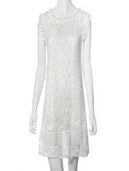 Lato Style moda kobiety dorywczo koronki Sukienka bez rękawów dorywczo pomponem Mini sukienki gorąca sprzedaży Sukienka Damska 3