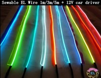 1m 3m 5m Sewable EL Wire Tron Glow Wire Easy Sew Tag Flexible Led Neon Strip