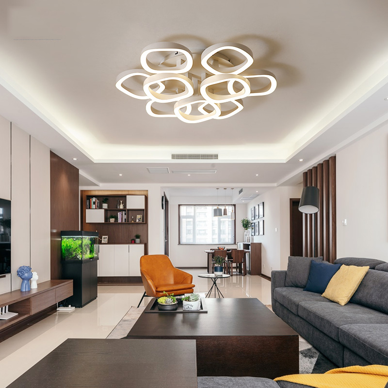 Modern Led Ceiling Lights For Living Room Study Room Bedroom Home Dec AC85-265V lamparas de techo Mounted Round LED Ceiling Lamp luminaire modern led ceiling lights for living room study room bedroom home dec ac85 265v lamparas de techo ceiling lamp dimming