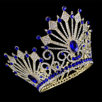 High Quality Bride Tiaras and Crowns Hair Crown Full Crystal Rhinestone Large Queen Crown for Women Wedding Hair Jewelry