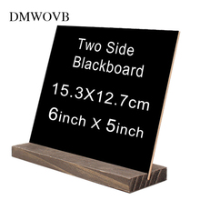 Small Wooden Chalk Blackboard Wedding Kitchen Restaurant Signs Chalkboard Writing Notice Message Paint decoration accessories