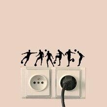 Аксессуары для футболистов, украшение для дома, наклейка на стену, виниловый стикер для переключателя 6SS0228