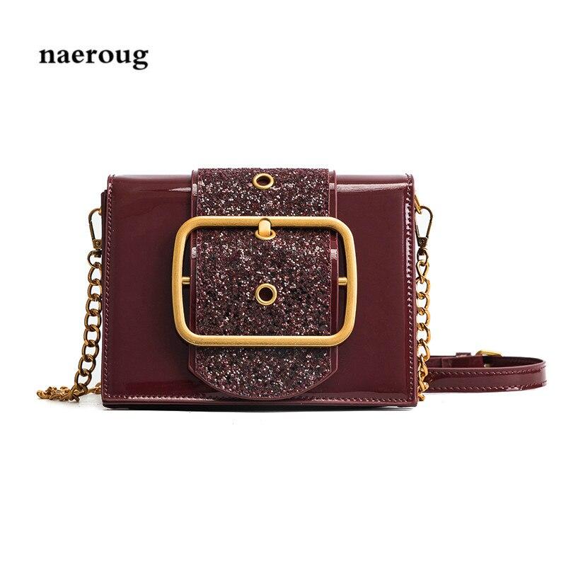 Leather Women Crossbody Bags Rivet Design Women Shoulder Bags Color Shoulder Strap Ladies Handbags cloe bag luis vuiton bag