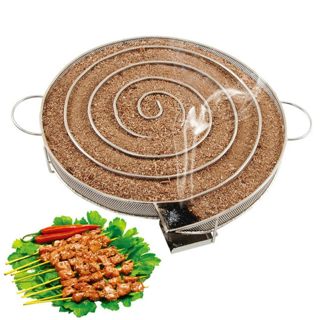 2019 New Smoke Generator For BBQ Grill Or Smoker Wood Dust Hot And Cold Smoking Salmon Meat Burn Cooking Stainless Bbq Tools plywood