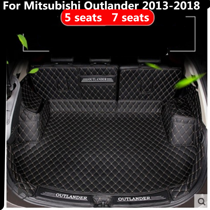 car trunk mat For Mitsubishi Outlander 2013 2018 Cargo Liner Interior  Accessories Carpet car styling Foot Trunk mat 2 0 5 seats -in Chromium  Styling