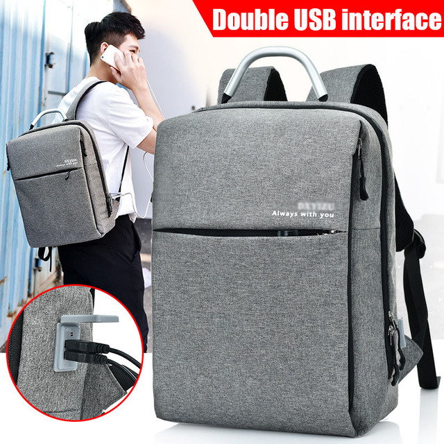 9df2997aee VBNM Double External USB Phone Charging Interface Backpack for Notebook  Computer Tablet Men Women s Anti Theft Design Laptop Bag