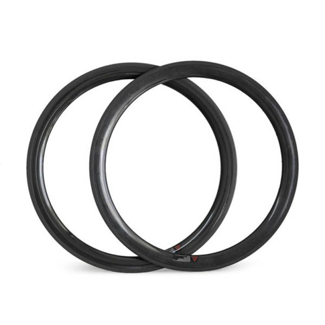 Cheap One Pair 700C Full Carbon Racing Rims T700 Material Tubular 50mm Depth Basale Braking Surface And High TG Resin Factory OEM