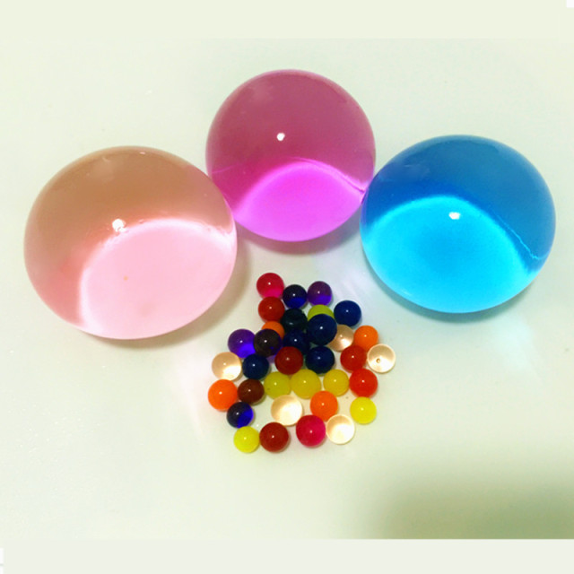 Jelly Ball Decor Custom 25 Pcs 30Mm 40Mm Crystal Soil Ball Water Beads Mud Grow Magic 2018