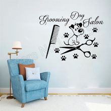 Pet Shop Home Decor Art  mural stickers wall decal vinyl Grooming Decal decoration salon for shopZW23