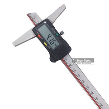Promo offer GUANGLU Digital Depth Caliper 0-200mm/ 0.01mm Stainless Steel Micrometer Digital Paquimetro Measuring Tools Depth Gauge