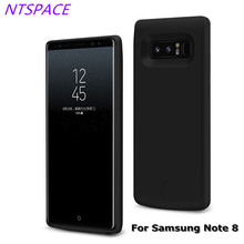 NTSPACE 6500mAh Portable Battery Charger Case Battery Case External Backup Power Bank For Samsung Galaxy Note 8 Charging Case diweinuo portable external 3800mah battery back case w stand for samsung galaxy note 3 black