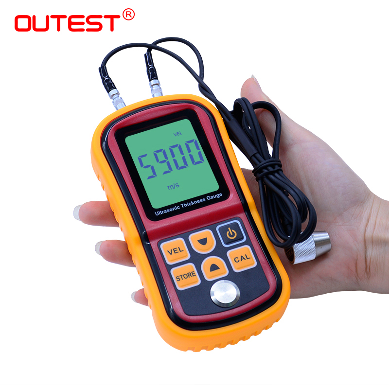 OUTEST Digital LCD display Ultrasonic Thickness Gauge Metal Testering Measuring Instruments 1.2 to 200MM Sound Velocity Meter gm100 digital lcd display ultrasonic thickness gauge metal testering measuring instruments 1 2 to 200mm sound velocity meter