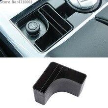 Di plastica Scatola di Immagazzinaggio Centrale Console Tazza del Telefono Titolare Della Carta Vassoio Accessorio Per Land Rover Range Rover Velar 2017