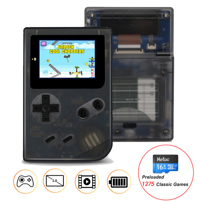 Mini 32 Bit Retro Handheld Game Player With 16GB TF Card Built-in 1275 Classic Games Pocket Game Console Best Gift For Kids