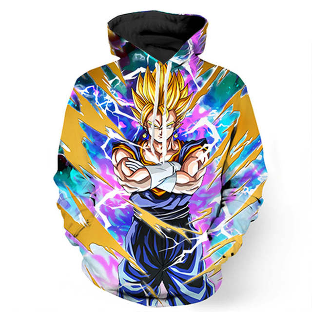 Dragon Ball Z Jacket Super Saiyan 3D Printed Sweatshirt Hoodie