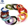 Новое поступление Высокое качество 16 цветов на выбор ремесло Цвет Круглый из натуральной кожи шнур для ручной работы Швейные аксессуары - фото