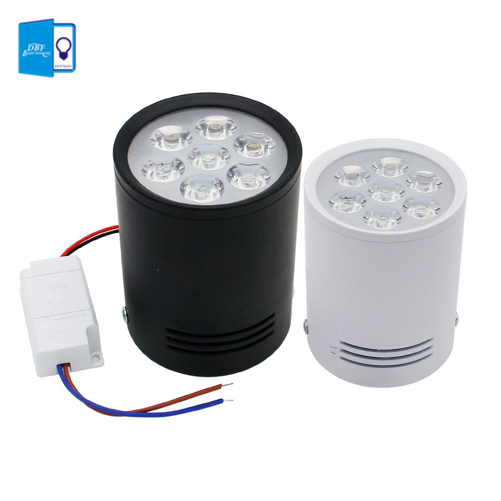 [DBF]High Power LED Downlight Surface Mounted Ceiling Lamps AC85-260V White/Black 3W/7W/9W/12W for Living Room Bedroom Hallway[DBF]High Power LED Downlight Surface Mounted Ceiling Lamps AC85-260V White/Black 3W/7W/9W/12W for Living Room Bedroom Hallway